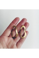 Brass Ripple Earrings
