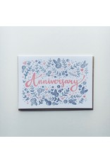 Floral Anniversary Card