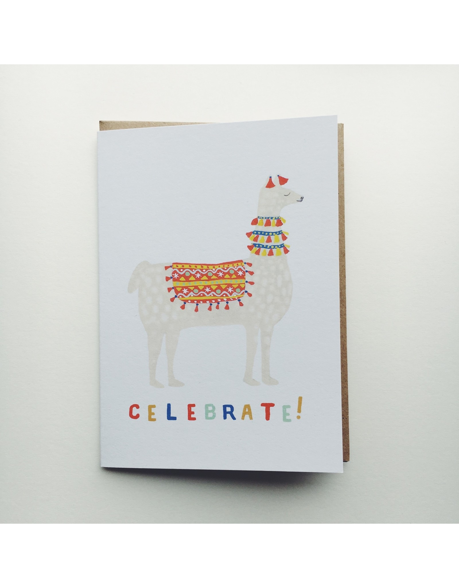 Celebration Llama Greeting Card