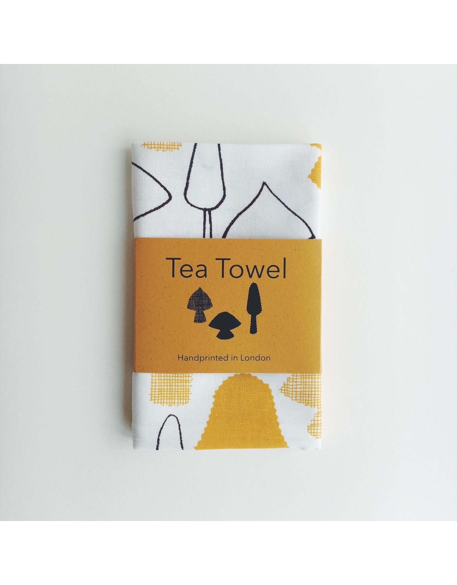 Mushrooms Print Tea Towel