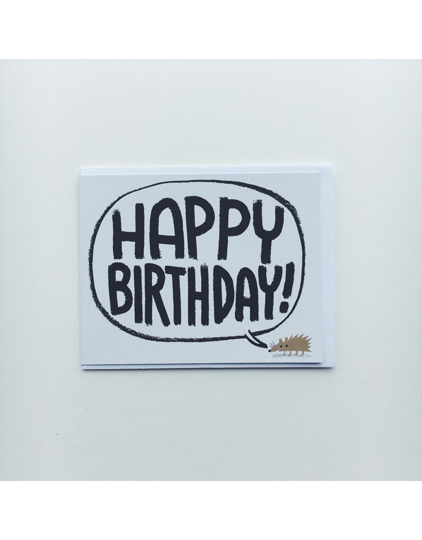Happy Birthday Hedgehog Card