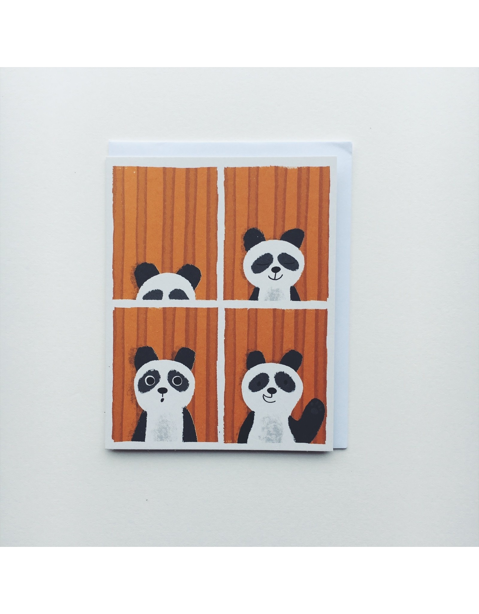 Panda Photo Booth Greeting Card