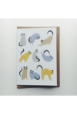 Cat Moves Greeting Card