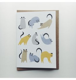 Clowder of Cats Greeting Card
