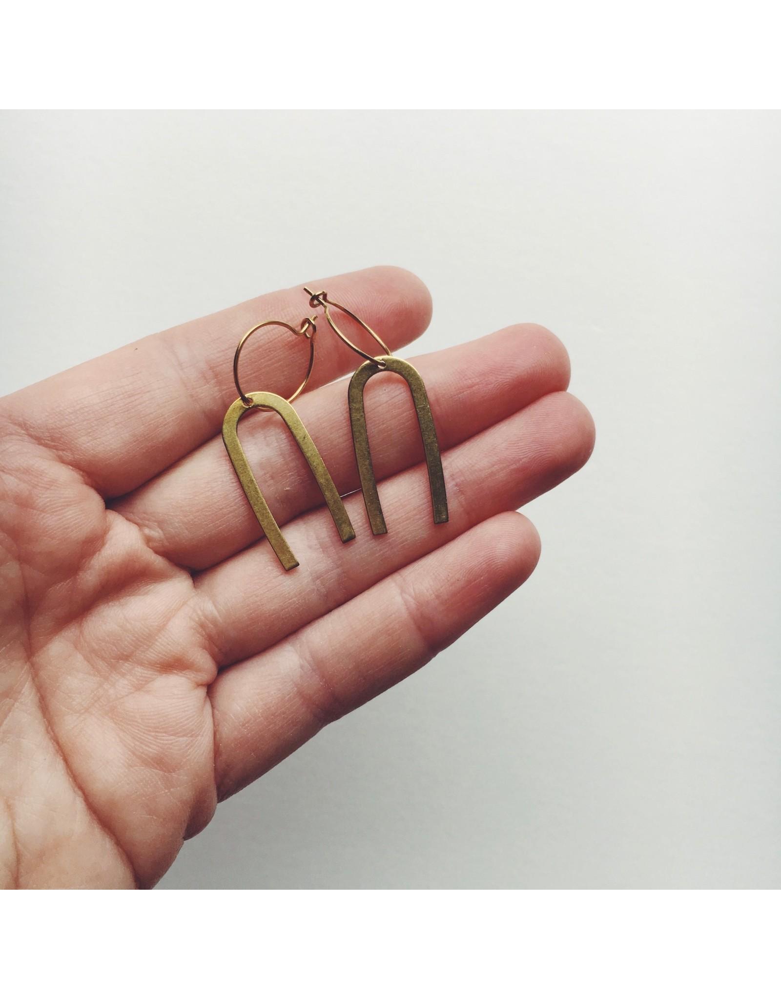 Ella Brass Earrings