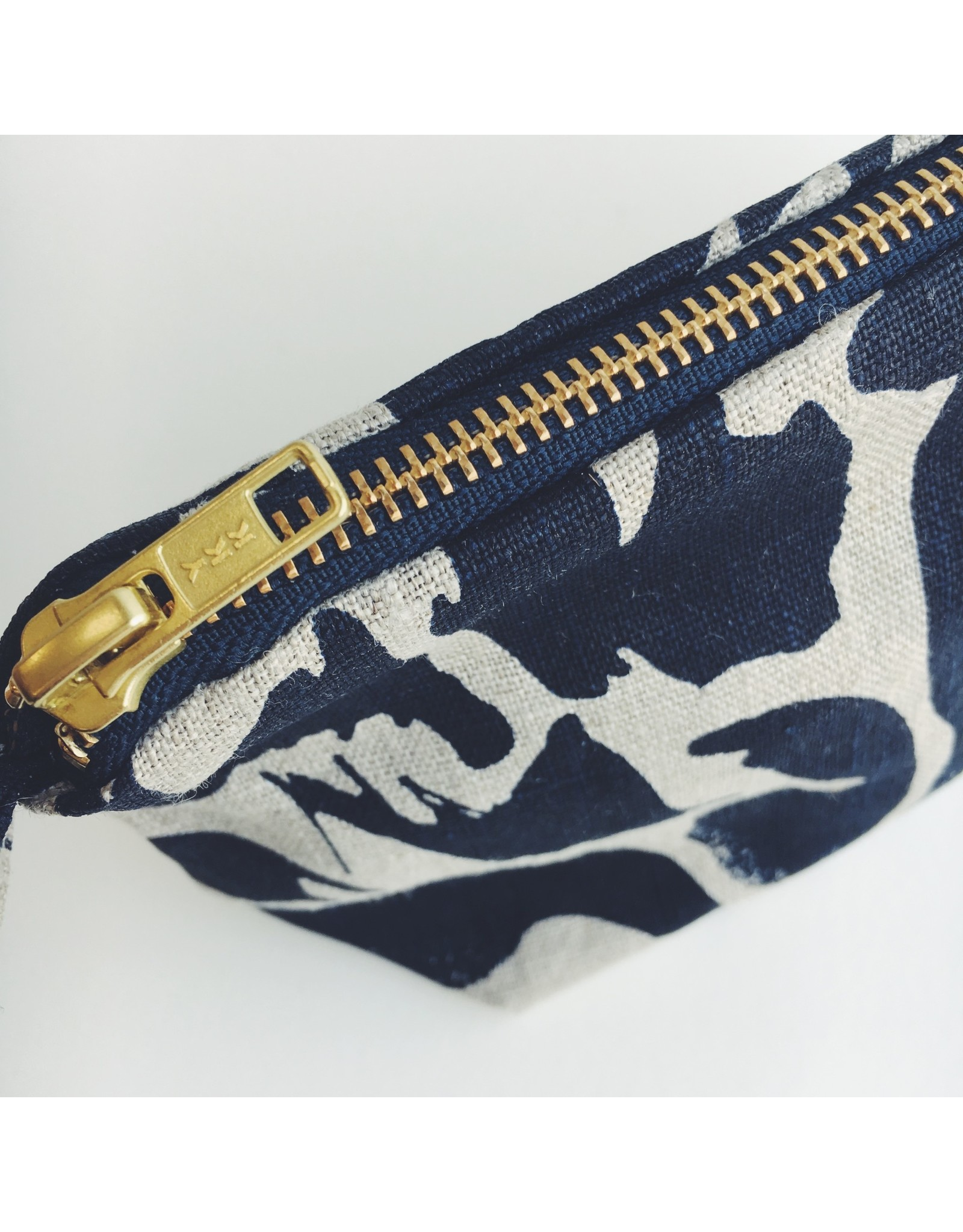Printed Linen Wash Bag