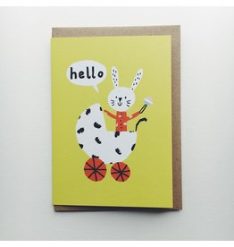 Hello Baby Rabbit Card