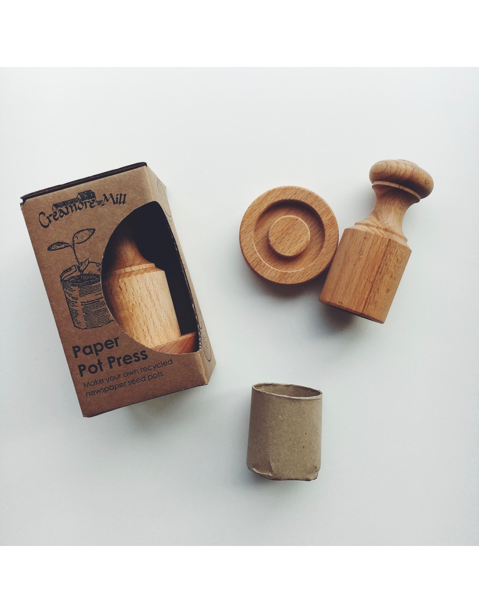 Wooden Paper Seedling Pot Press