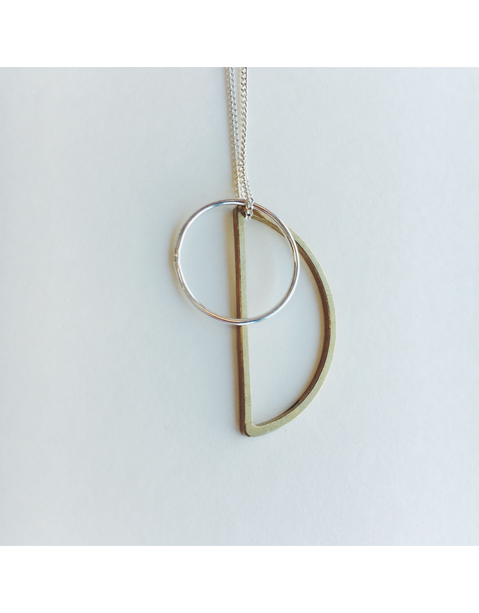 Locus Silver and Brass Necklace