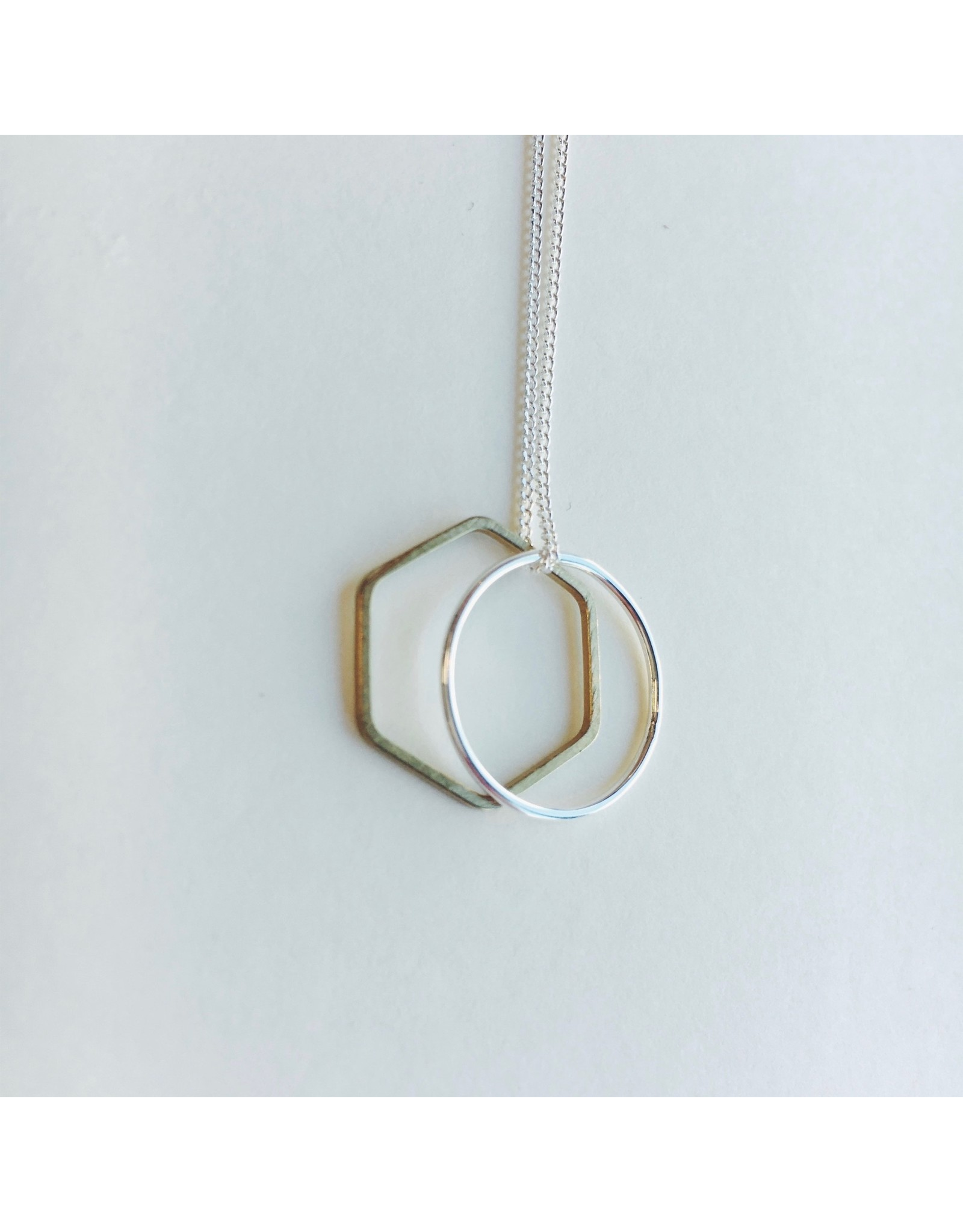 Vertex Silver and Brass Necklace