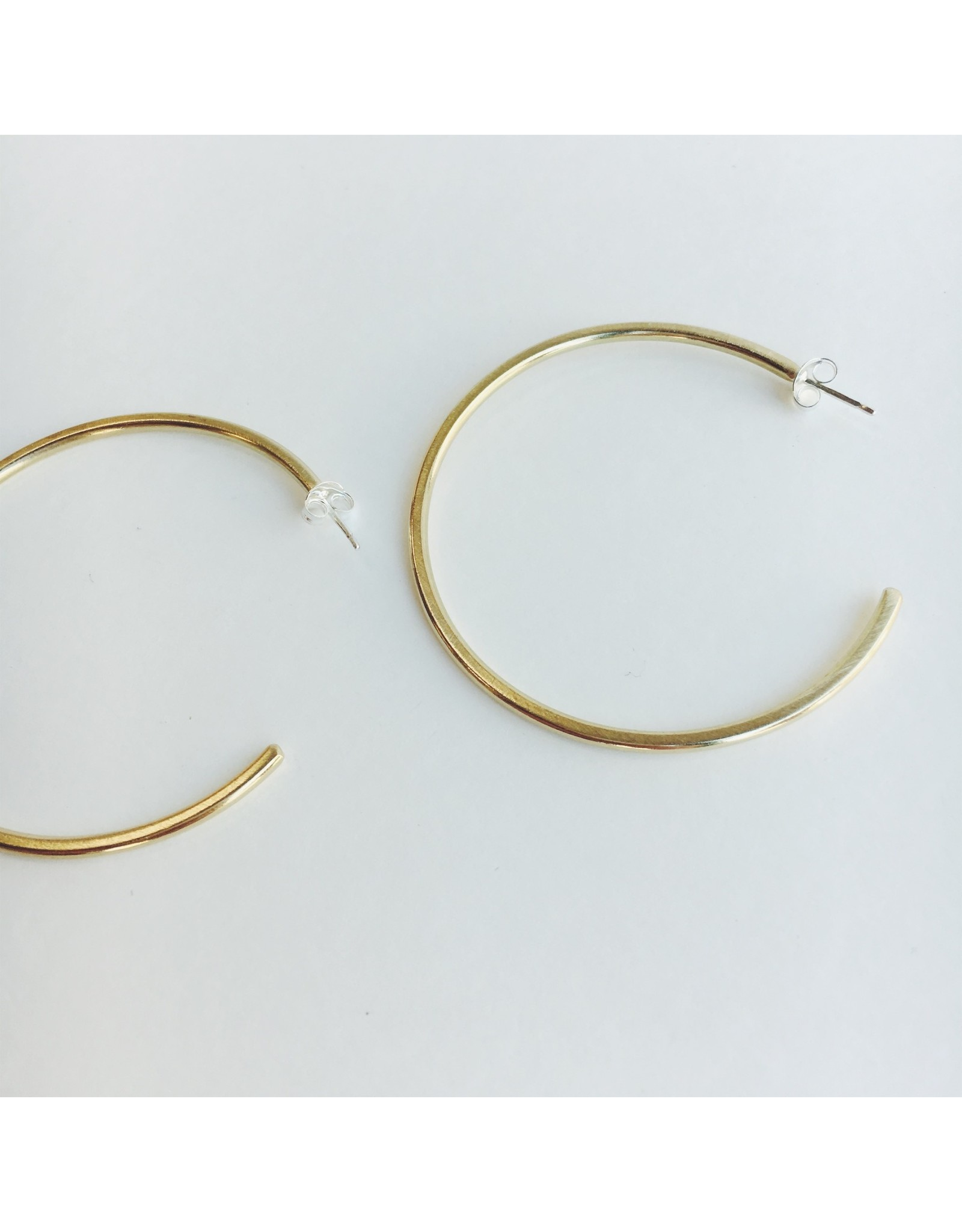 Minimal Brass Hoop Earrings
