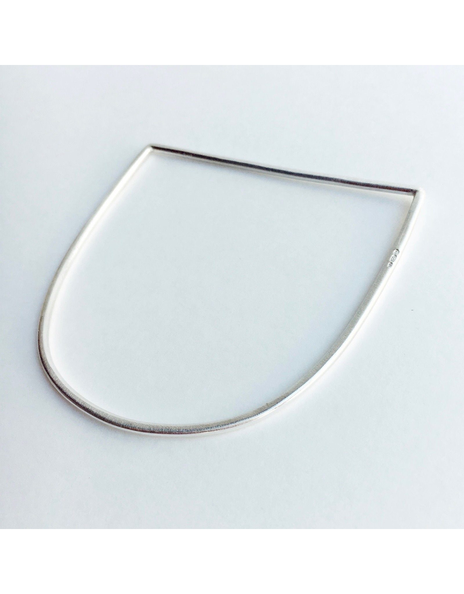 Minimal D Silver Bangle