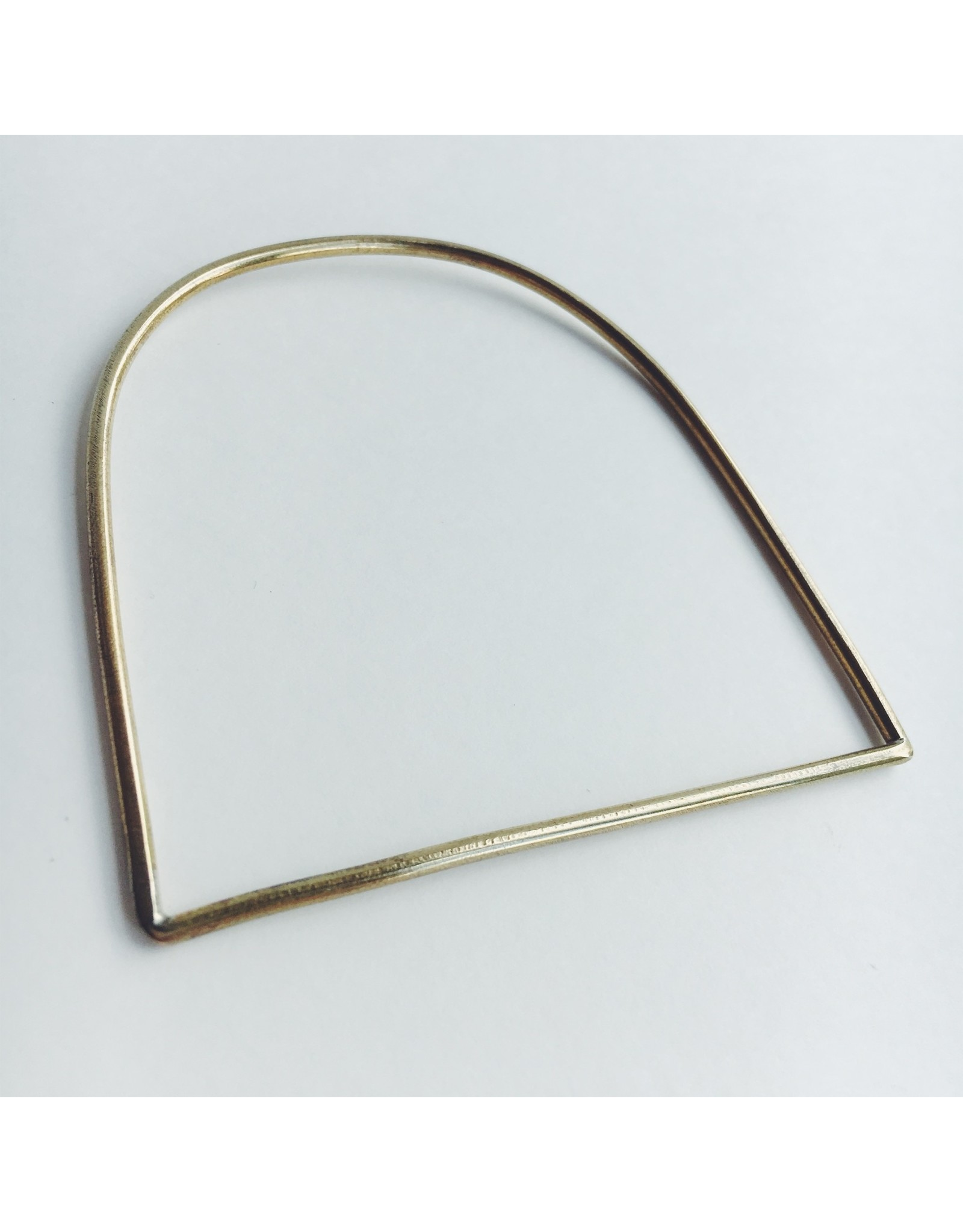 Minimal D Brass Bangle