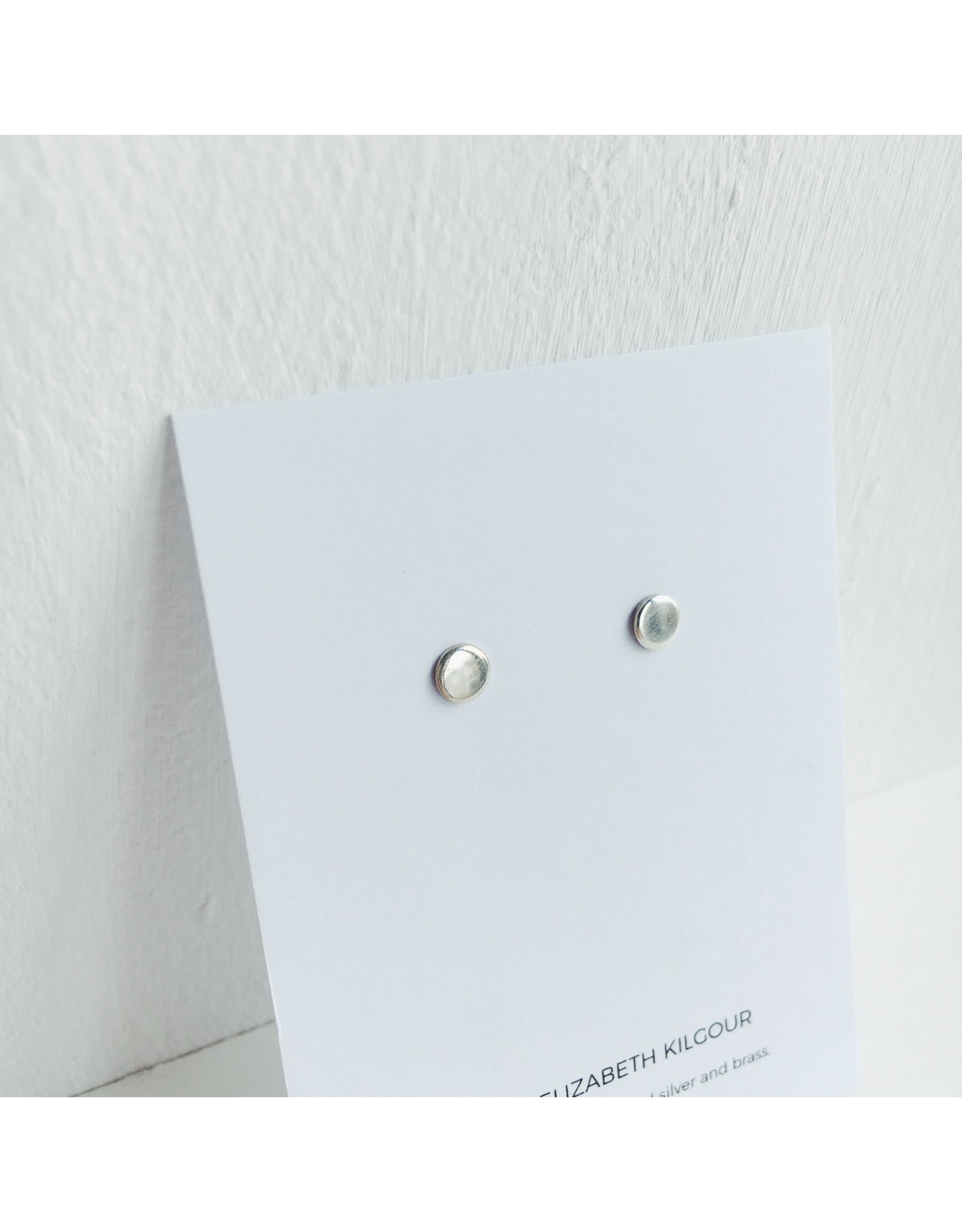 Silver Dot Stud Earrings