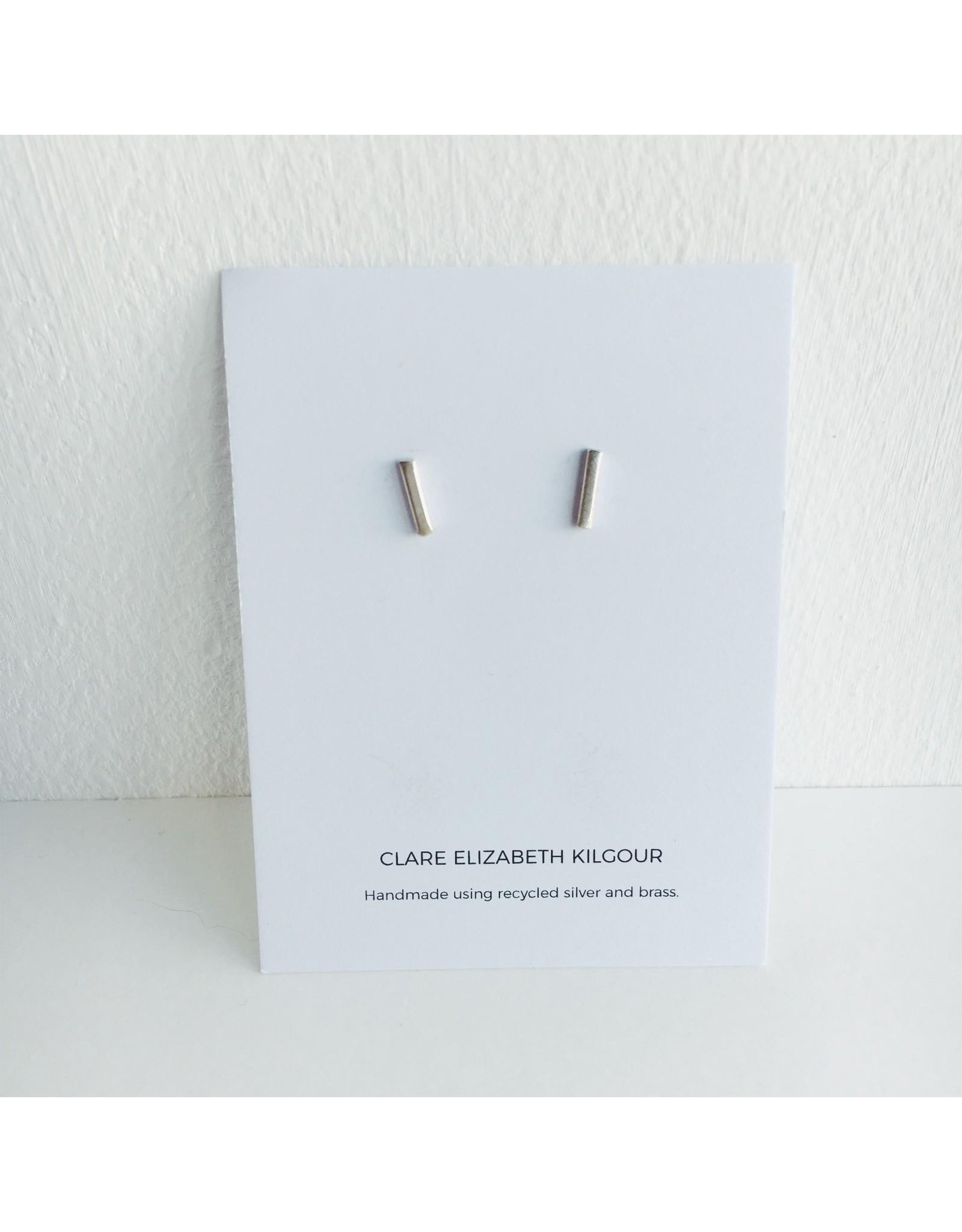 Sterling Silver Line Stud Earrings