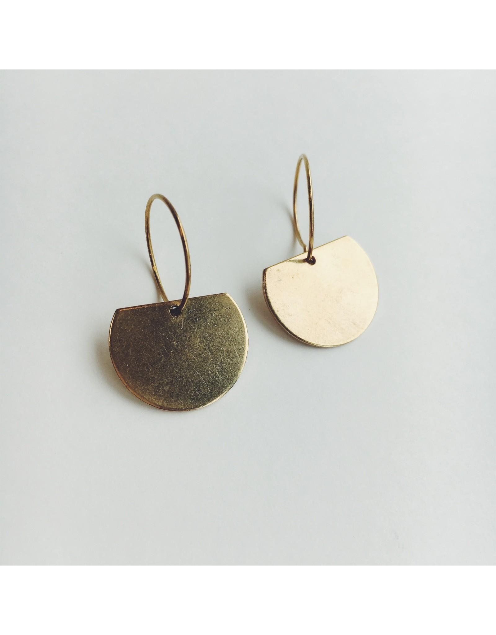 Emma Brass Earrings