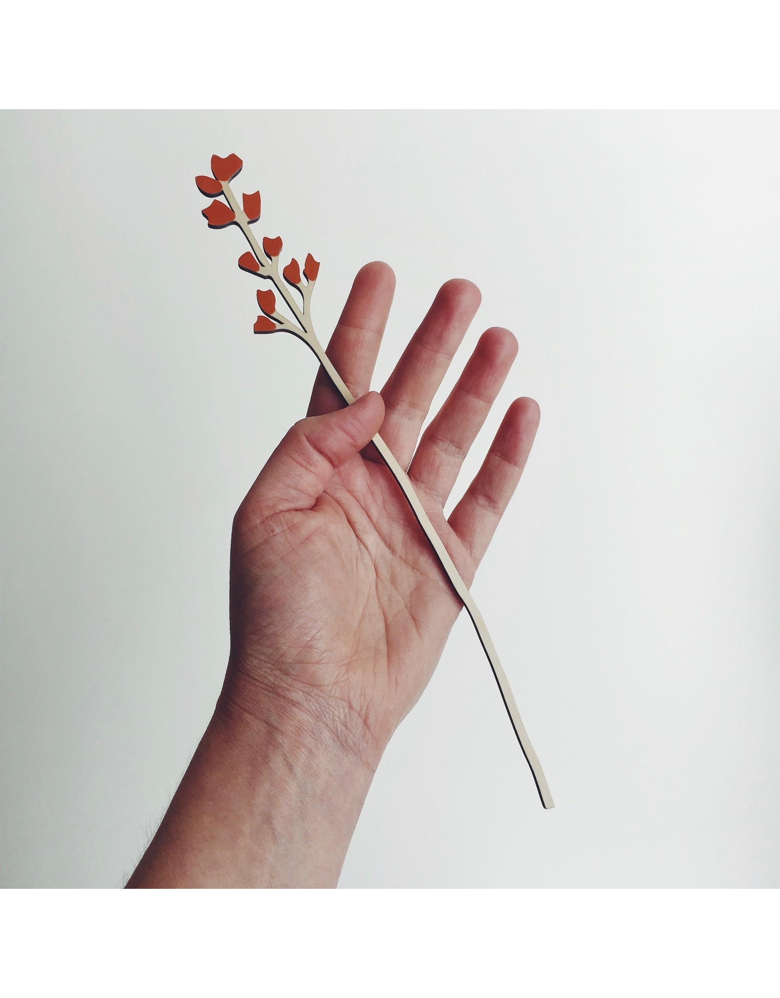 Wooden Flowers Small Stem