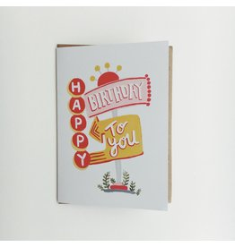 Vegas Lights Birthday Card