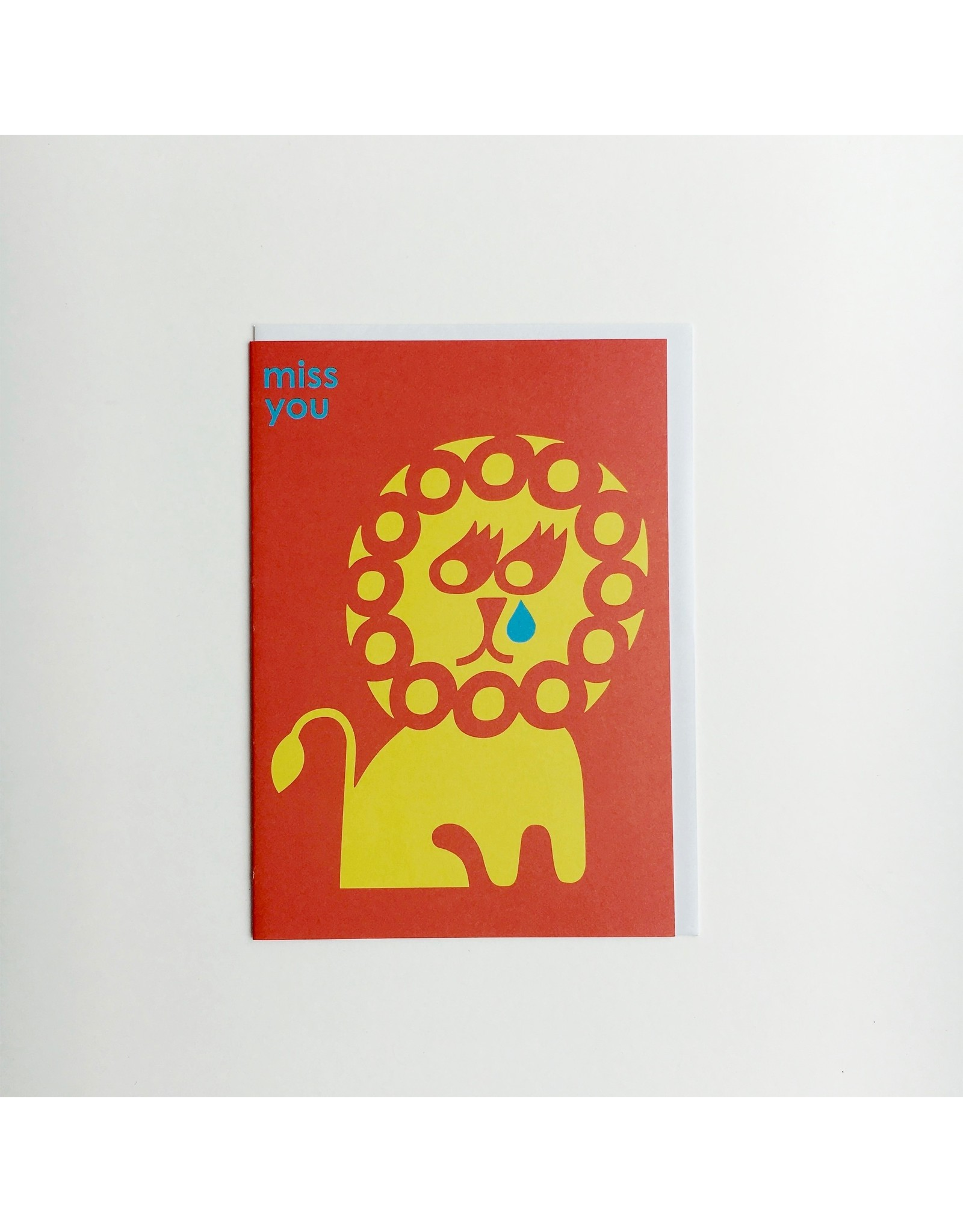 Miss You Lion Greeting Card