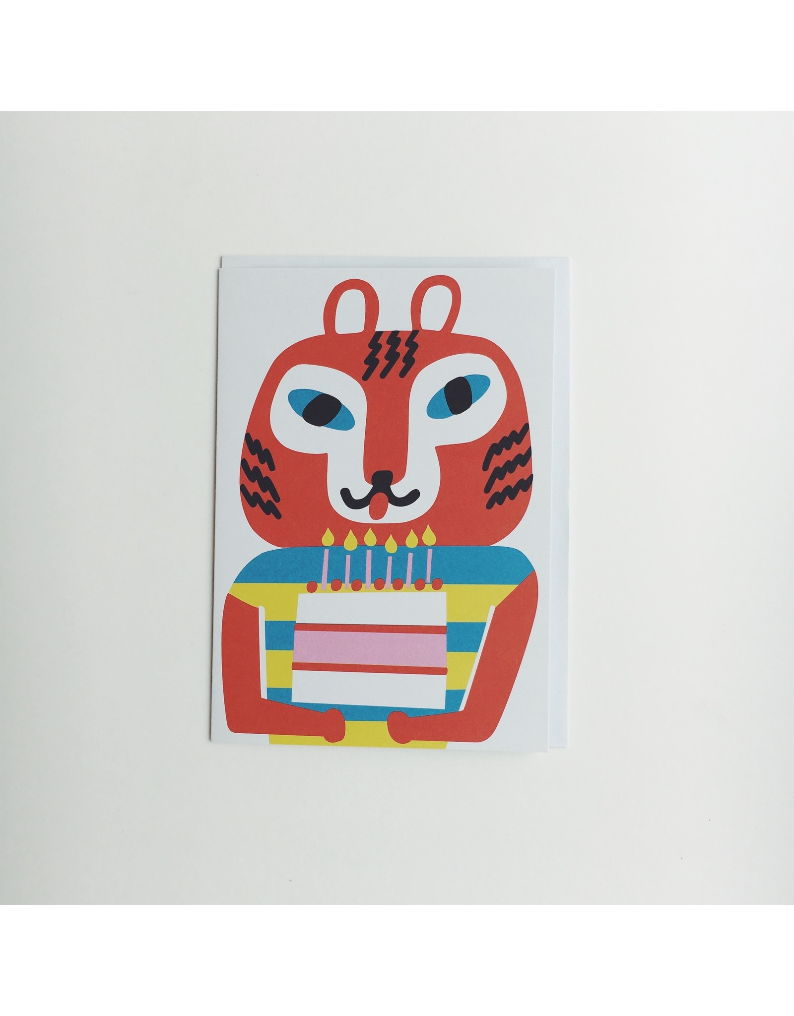 Party Tiger Greeting Card