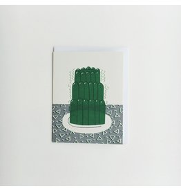 Green Jelly Greeting Card