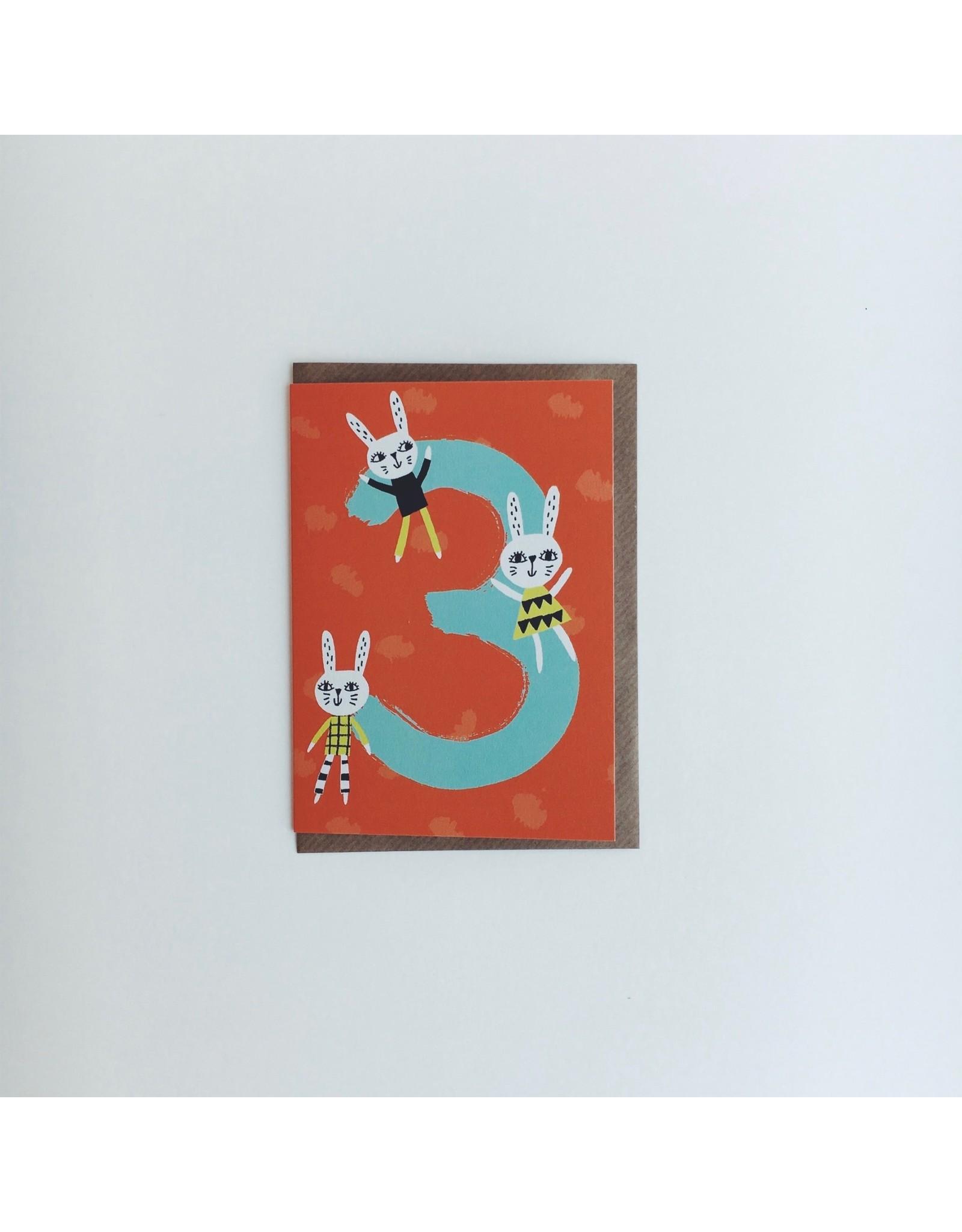 3rd Birthday Rabbit Card