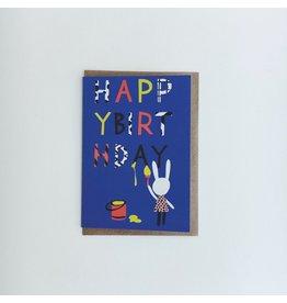 Artist Rabbit Birthday Card