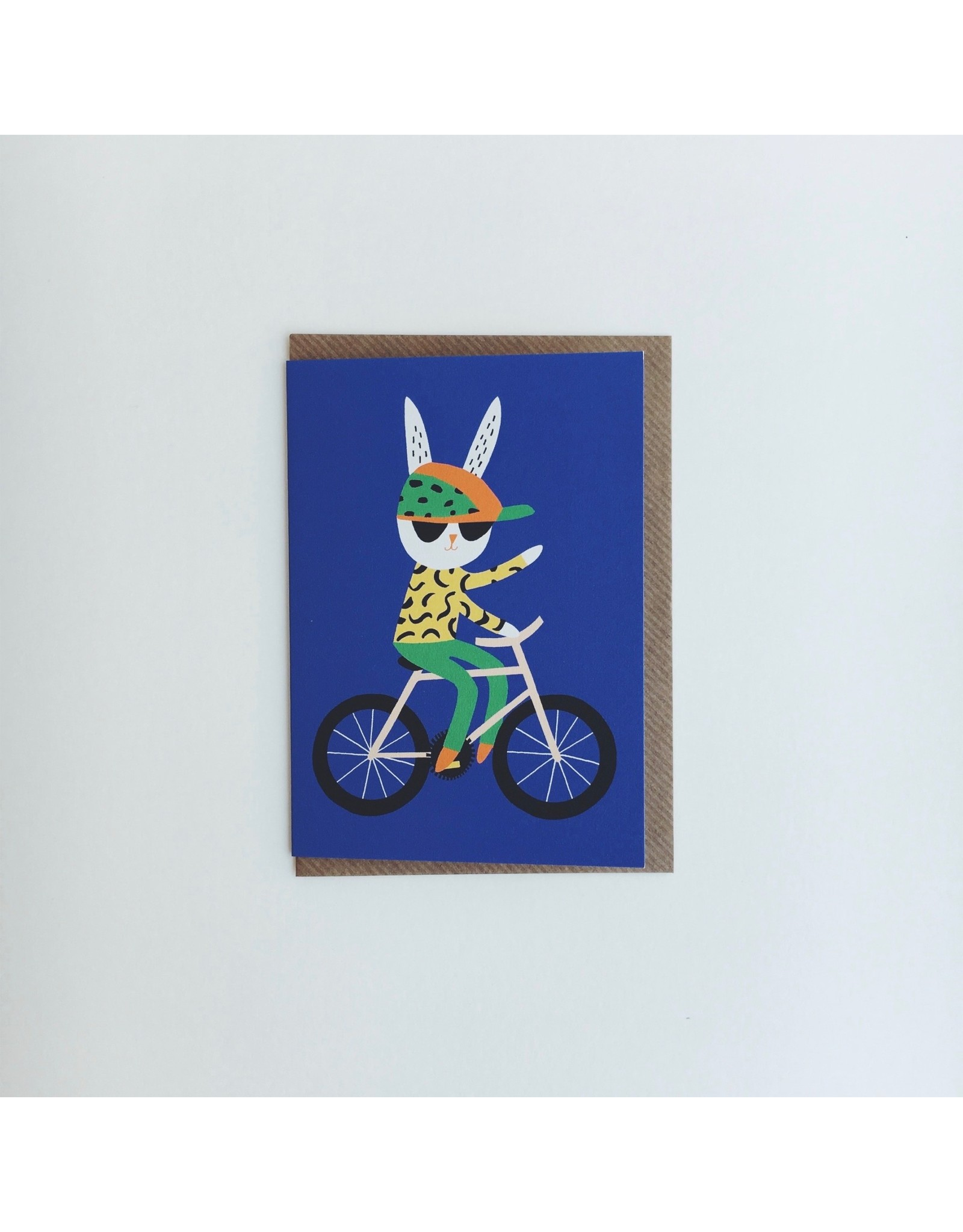 Rabbit Bicycle Card