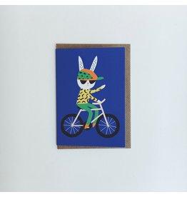 Rabbit Bicycle Card