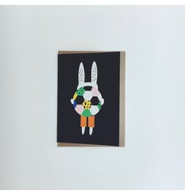 Footballing Rabbit Card