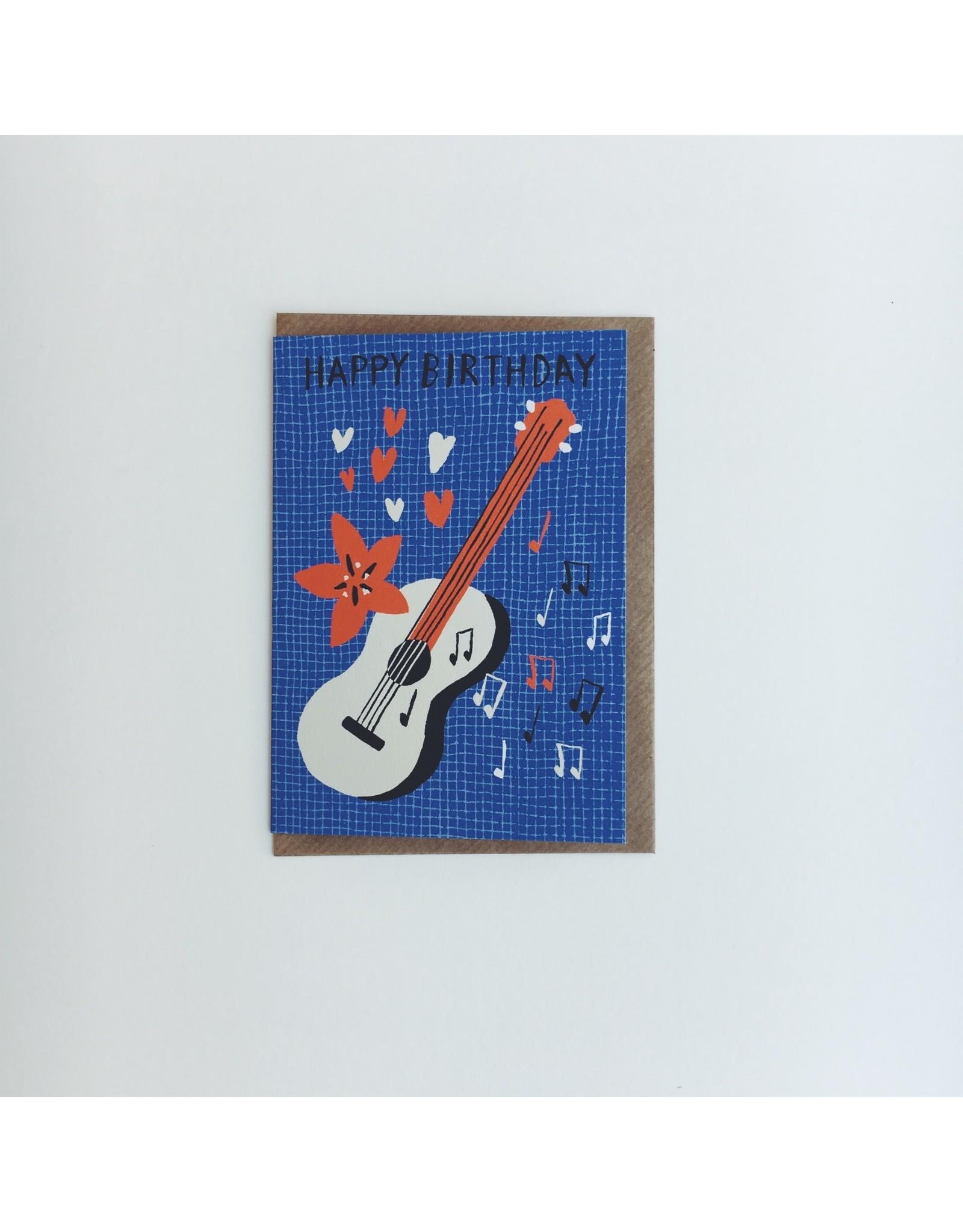 Happy Birthday Guitar Card
