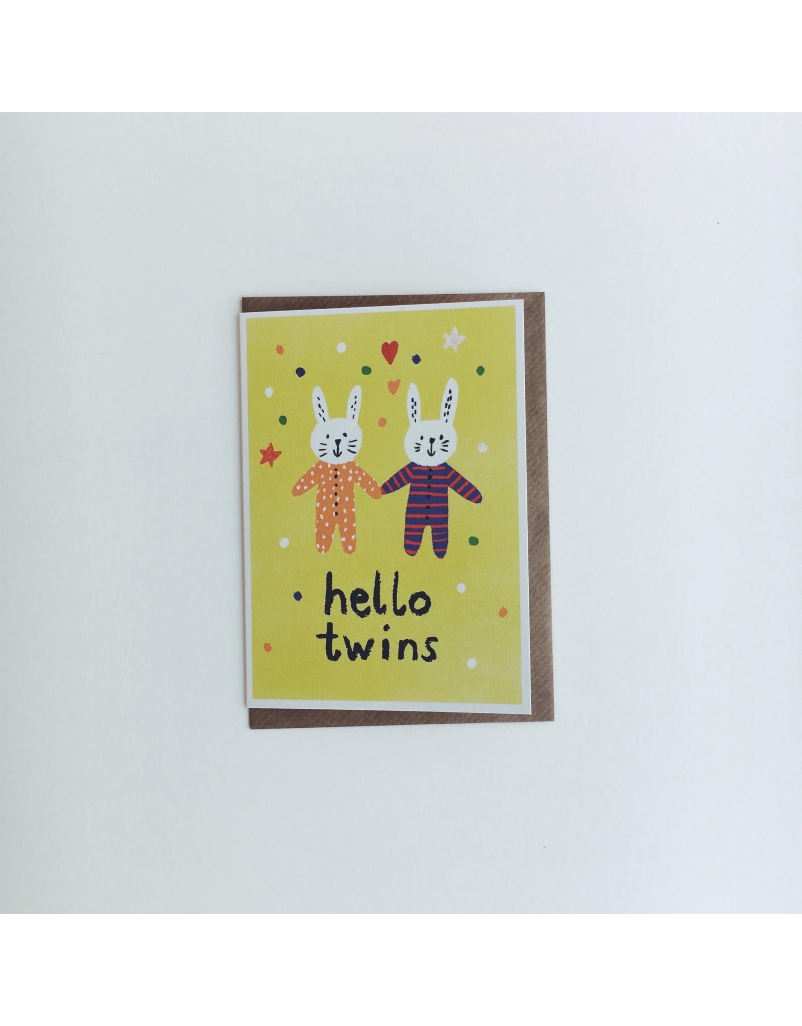 Hello Twins Greeting Card