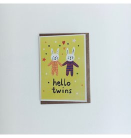 Hello Twins Greeting Card
