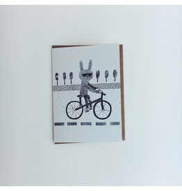 Cycling Rabbit Card