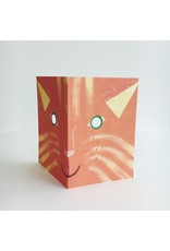 Cat Mask Greeting Card