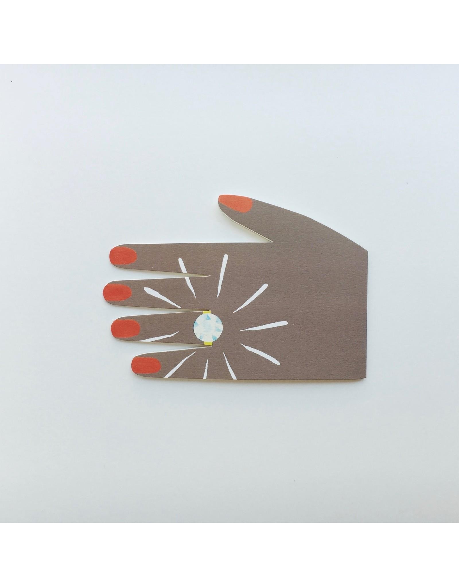 Diamond Ring Engagement Card