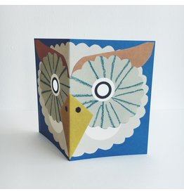 Owl Mask Greeting Card