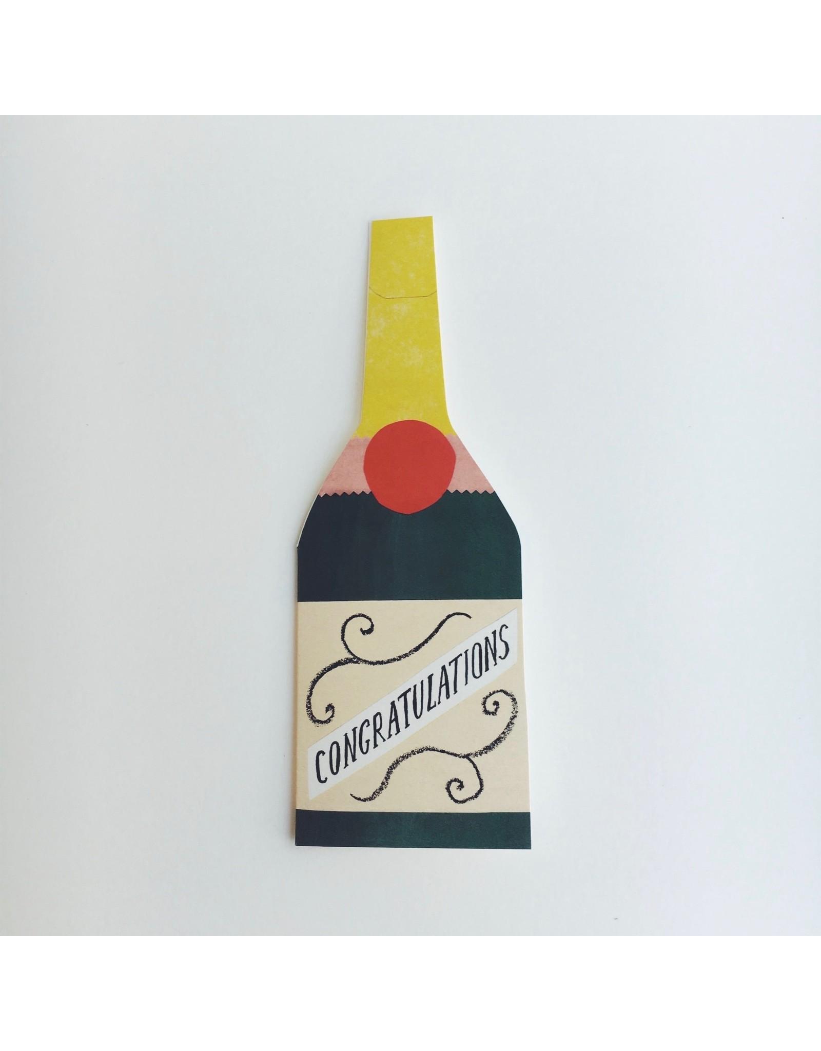 Congratulations Bottle Card