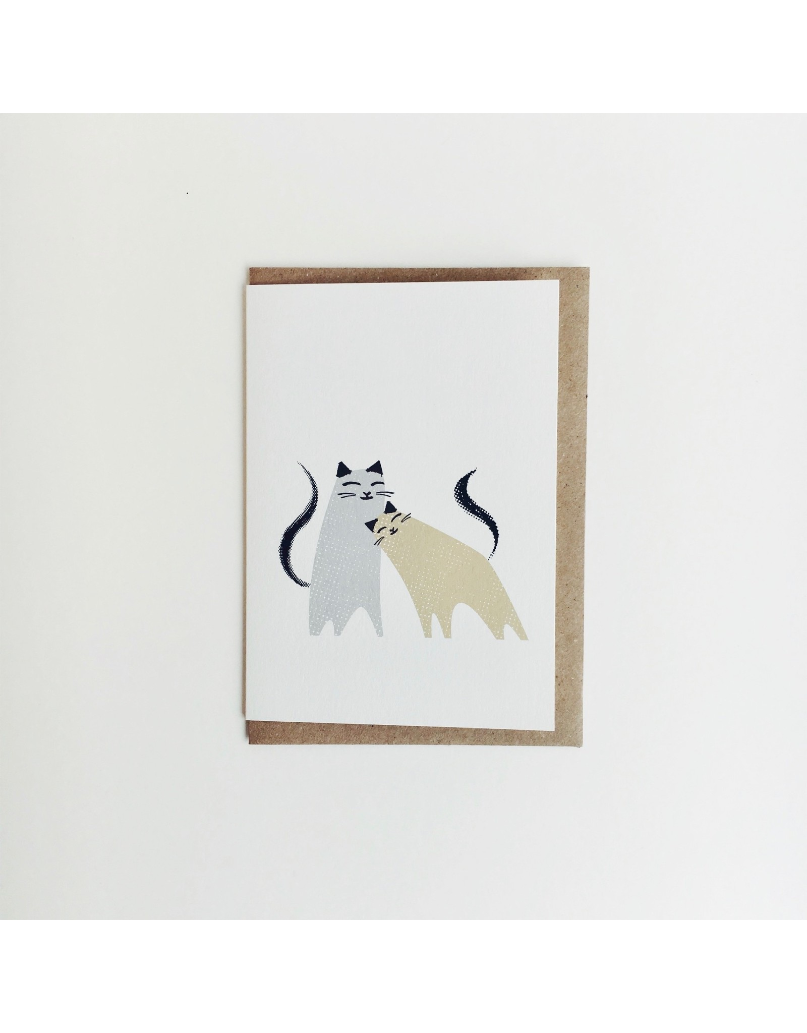Snuggling Cats Card