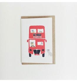 Cat Bus Greeting Card