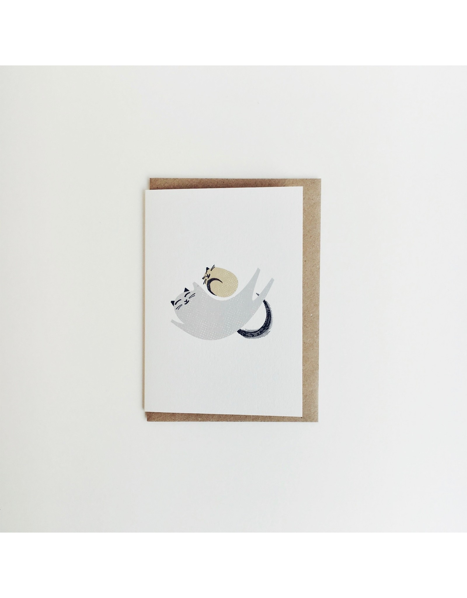 Cat and Kitten New Baby Card