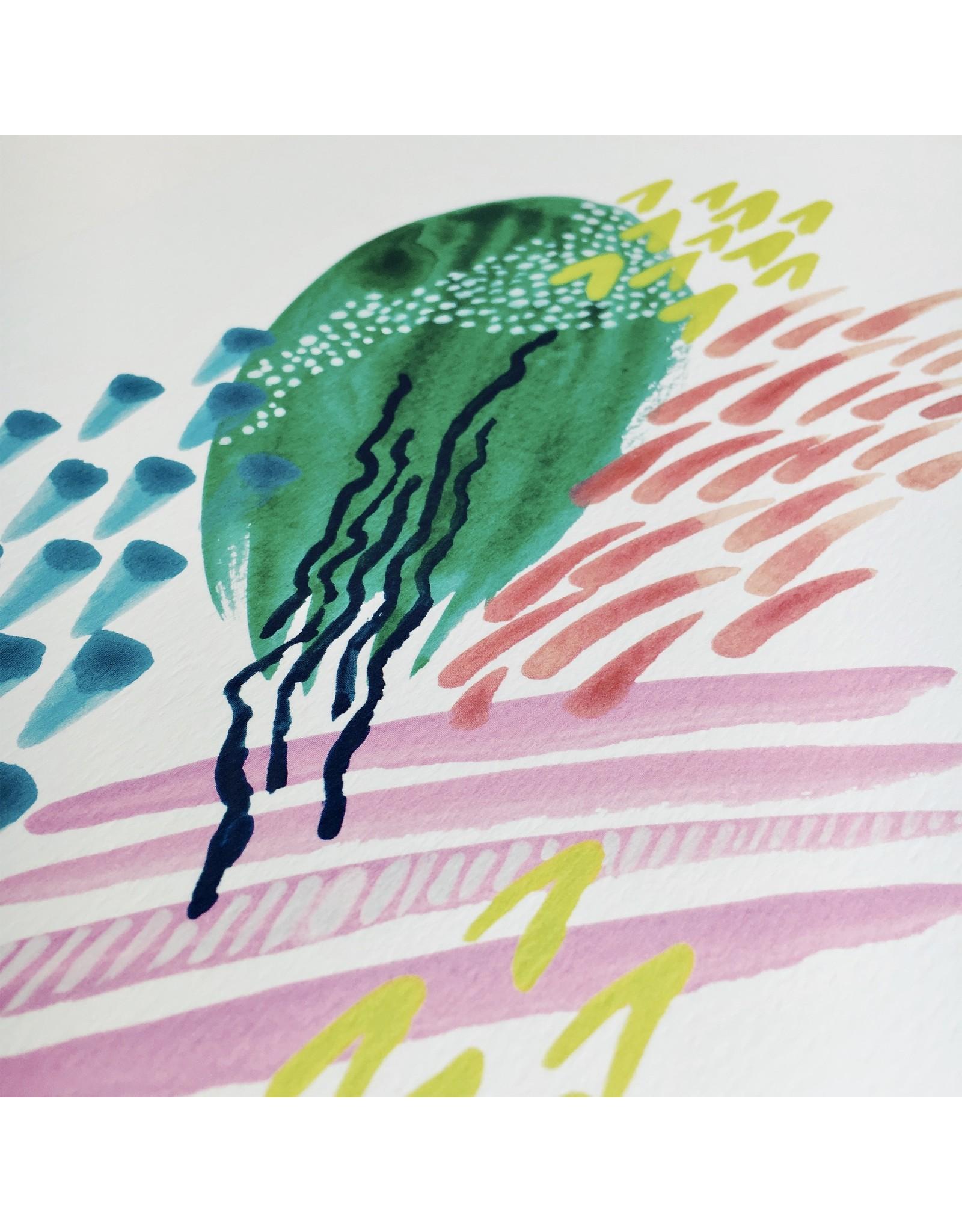 Iris Abstract Print