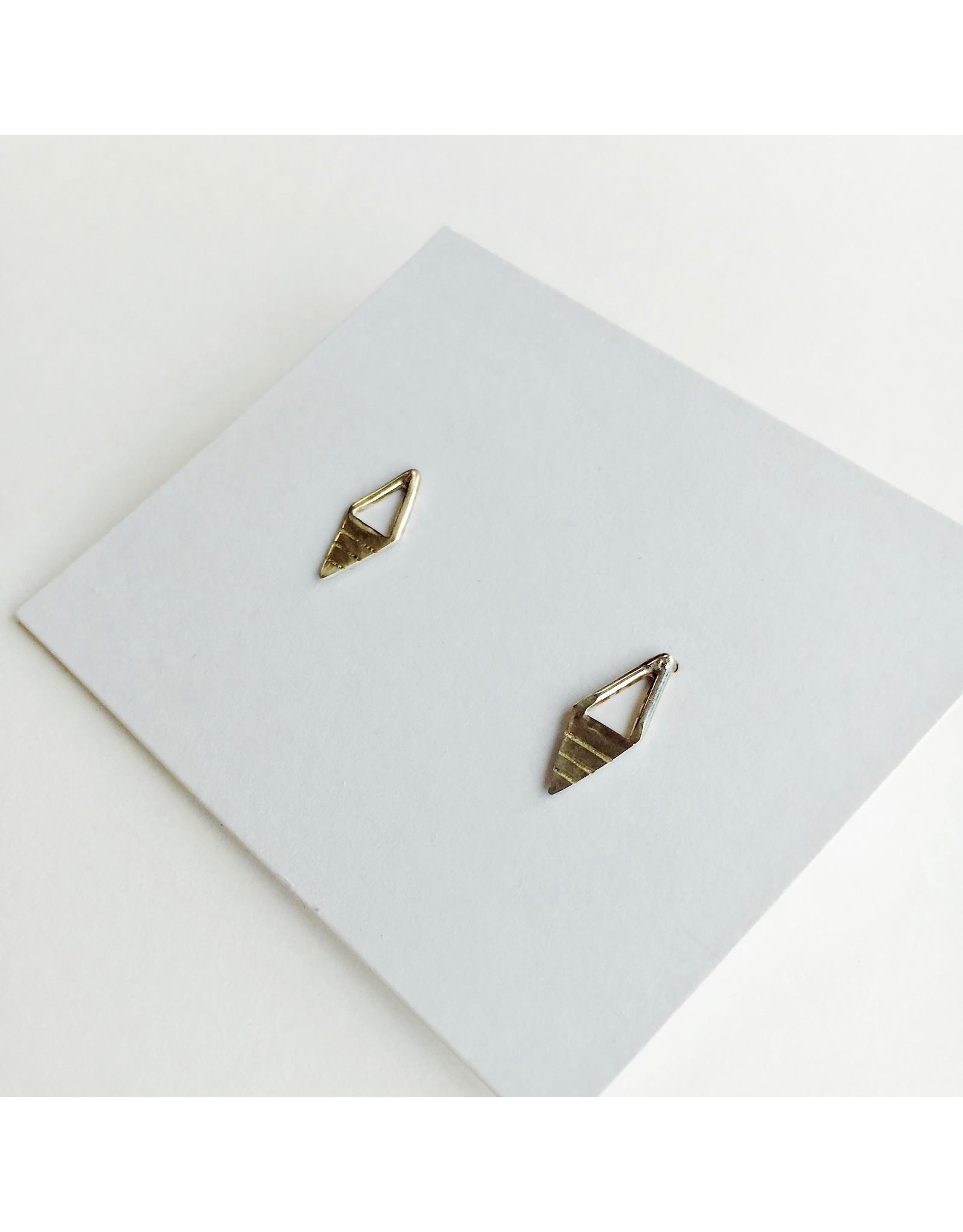 Diamond Shaped Stud Earrings