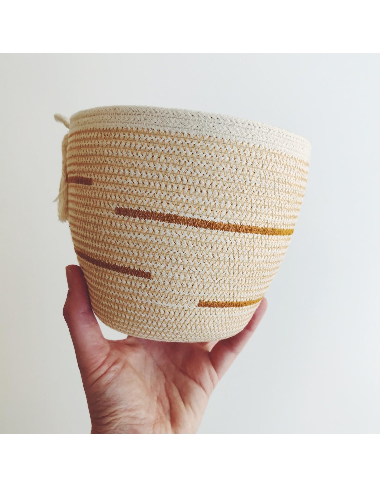 Textured Rope Basket