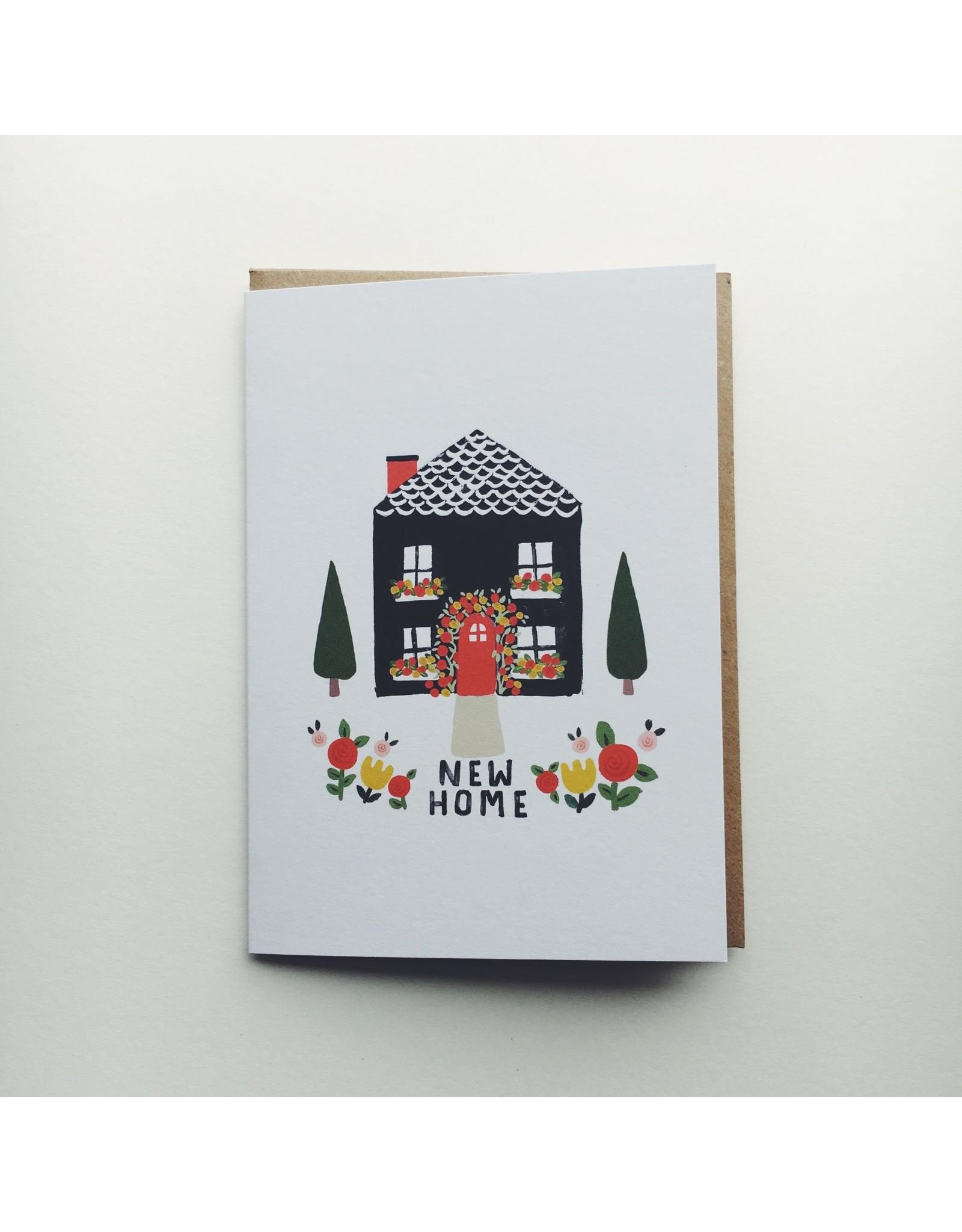 New Home Black House Card