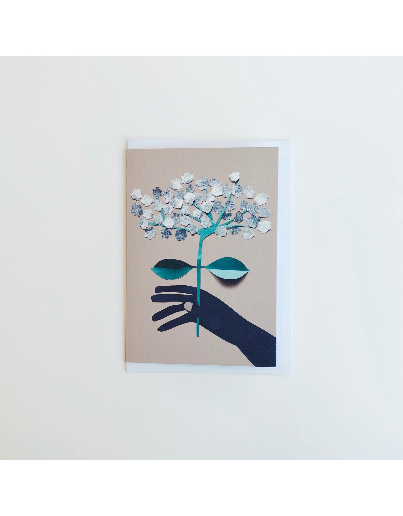 Hand Holding Blossom Card