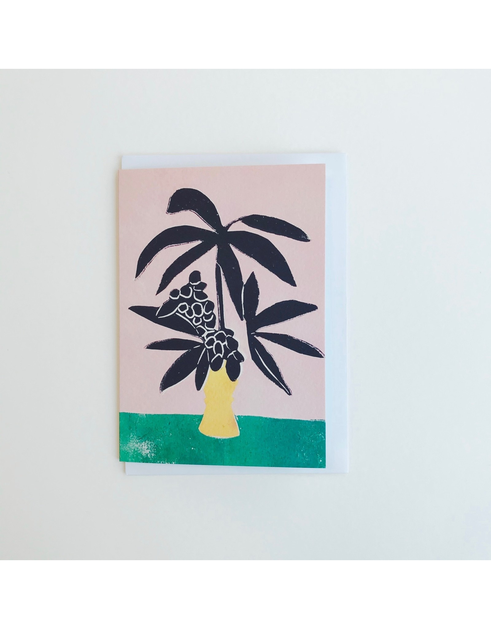 Palm in Yellow Vase Card