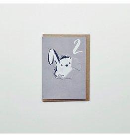 2nd Birthday Rabbit Greeting Card
