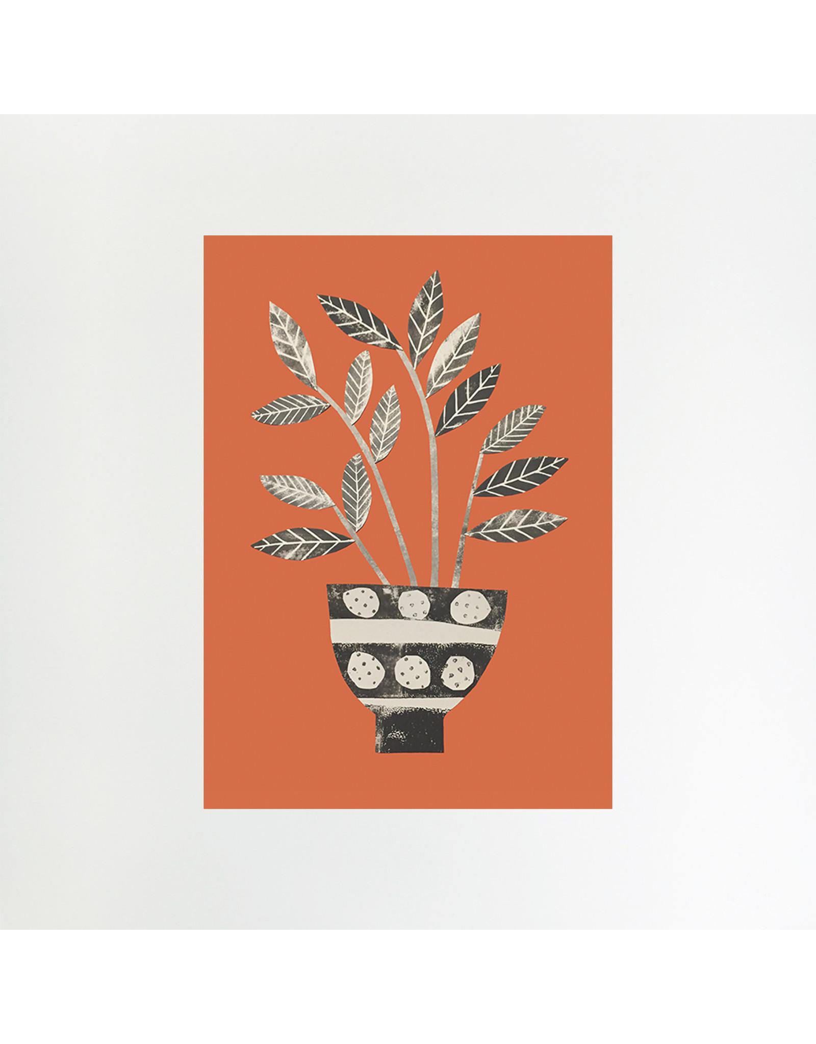 A4 Palm on Orange Print