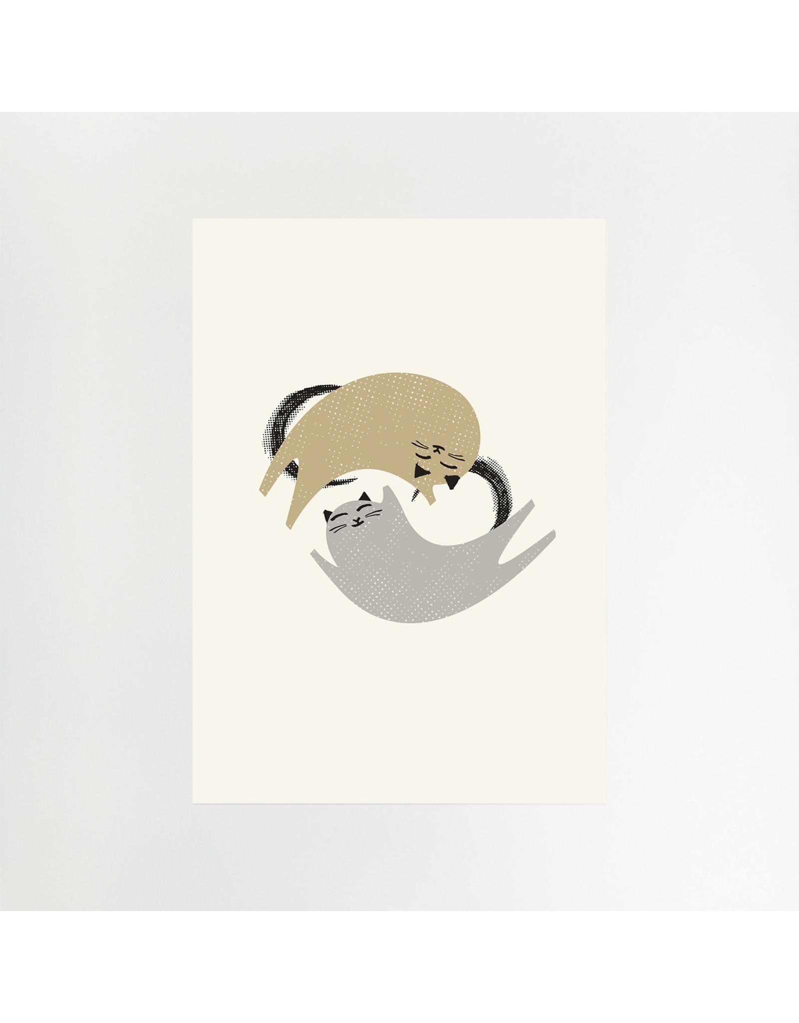 Dancing Cats A4 Print